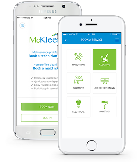 McKleenz-App-Screen